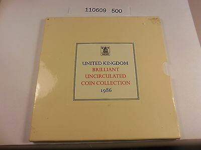 1986 Royal Mint United Kingdom Uncirculated Coin Collection - Original Holder