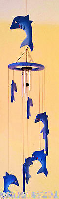 Wooden Dolphine wind chimes