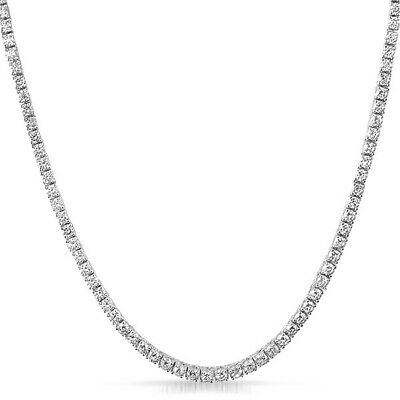 3mm Lab Made Small Stone Silver Iced Out Tennis Chain for Men or Women