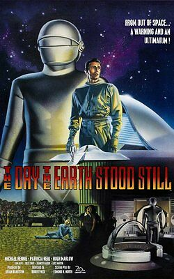 The Day the Earth Stood Still Movie POSTER (1951) Science fiction