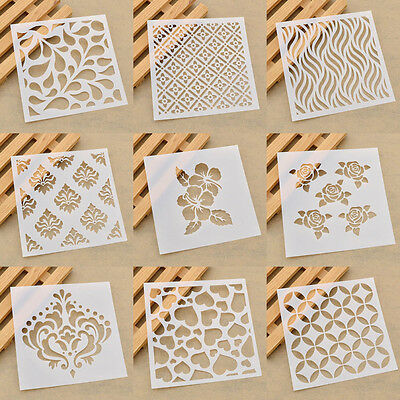 Wall Furniture Layering Stencils Template Drawing Design Spray Paint DIY Decor