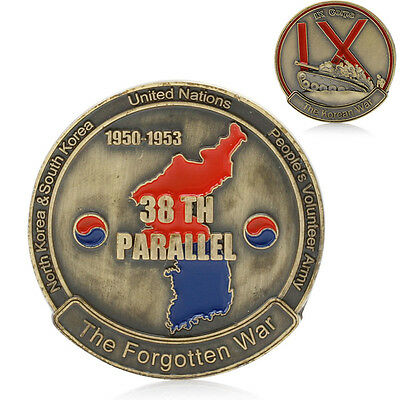 Korean War 38th Parallel IX Corps Challenge Commemorative Coin Collection Gift