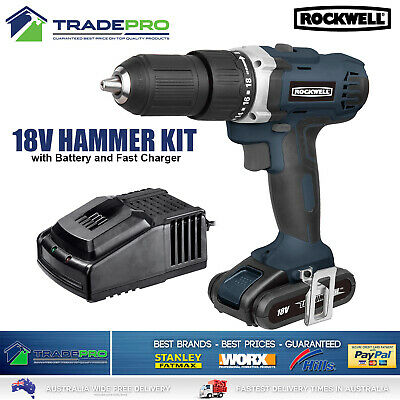 Combo Kit Drill 18V Cordless Driver & Circular Saw with 2x Batteries & Charger