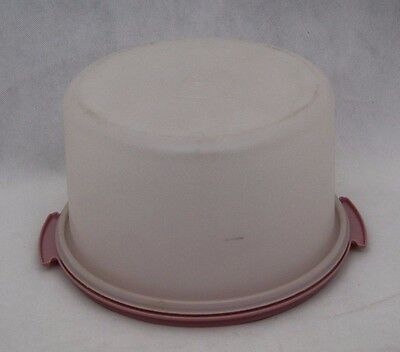 Tupperware Cake Taker Container Round Large Vintage Pink