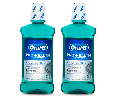 2 x Oral-B Pro-Health Tooth & Gum Care Mouth Rinse Fresh Mint 500mL