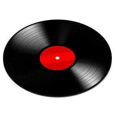 VINYL RECORD DISC RED Turntable Player DJ Mixer Funny PC Computer Mouse Mat Pad