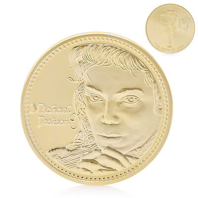 The King of Pop MJ Thriller Moonwalk Gold Plated Commemorative Coin Collection