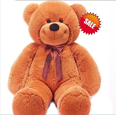 160cm Tall Super Giant Teddy Bear Plush Stuffed Doll Birthday Xmas Gift Brown