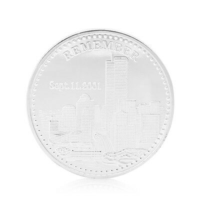 Remember 09.11.2001 World Trade Center Freedom Silver Plated Commemorative Coin