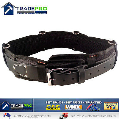Leather Tool Belt Medaltech® Nail Bag Riggers Padded Oil Tanned Saddle 30 to 36""