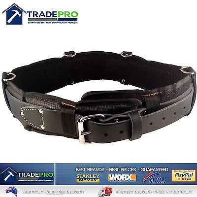 Leather Tool Belt Medaltech® Nail Bag Riggers Padded Oil Tanned Saddle 38 to 46""