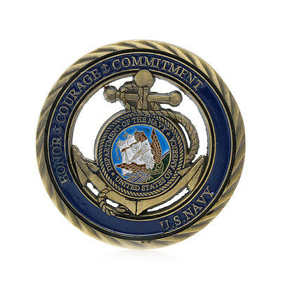 U.S. Navy Commemorative Challenge Coin Art Collection Physical Collectible Gift