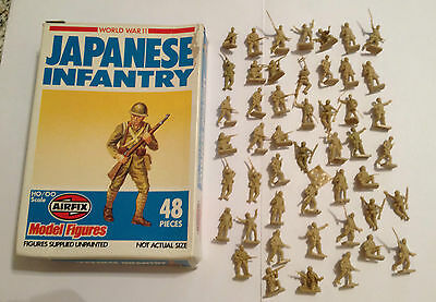 Airfix 01718 Japanese Infantry Serie Completa 48 Pezzi Con Scatola Scala Ho