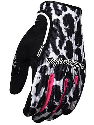 Guantes MX mujer Troy Lee Designs 2016 XC Cheetah Negro-blanco