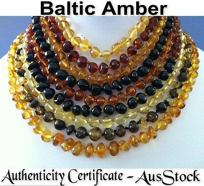 Certified Natural Baltic Amber Baby-Kids Teething Necklaces & Bracelets