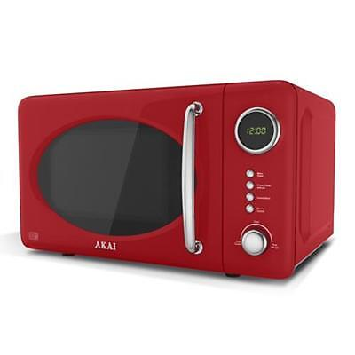Akai Red Microwave Oven - 700W 20L Digital A24006R