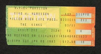 1983 The Kinks concert ticket stub UIC University Illinois State Of Confusion