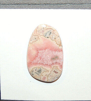Pink Rhodochrosite Cabochon 26x16mm with 3mm dome (11100)