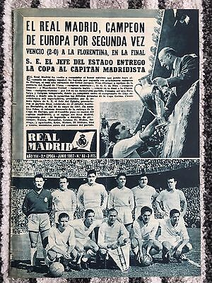 1957 REAL MADRID REVISTA 1957 EUROPEAN CUP FINAL Vs FIORENTINA IN MADRID