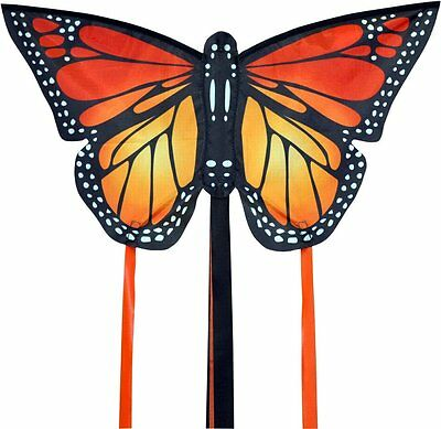 Small Monarch Butterfly Kite Red - Easy To Fly Kids Kite