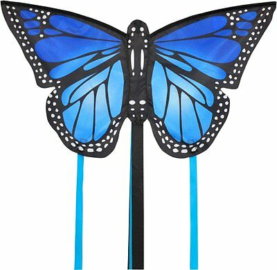 Small Monarch Butterfly Kite Blue- Easy To Fly Kids Kite