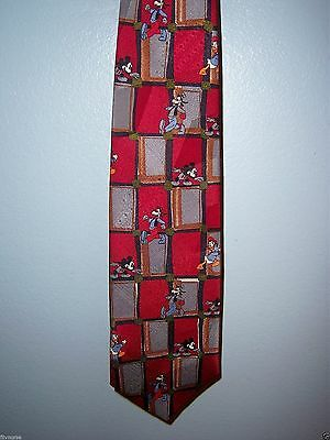 Goofy Donald Duck And Mickey Tie Red Gray Gold Mickey & Co. Disney