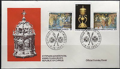 Cyprus - #588-90(3) - FDC