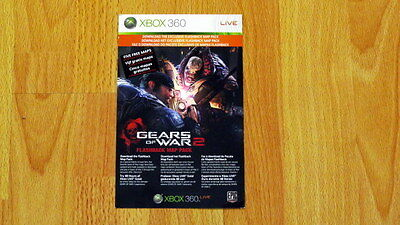 Xbox 360 Gears of War 2 Flashback Map Pack DLC Code