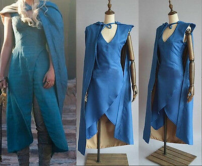 Trono Vestito Carnevale Donna Throne Daenerys Dress up Woman Cosplay GTH001
