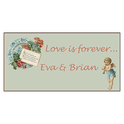 Wedding Marriage Love Is Forever Angel Custom DECAL STICKER Retail Store Sign