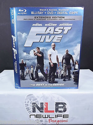 Fast Five Extended Edition Blu ray Slip Cover NO MOVIE (Collectible Item)