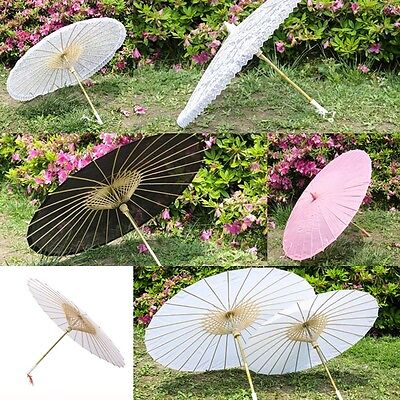 Bamboo Lace Paper Umbrella Parasol Performance Photo Coasplay Stage Property New