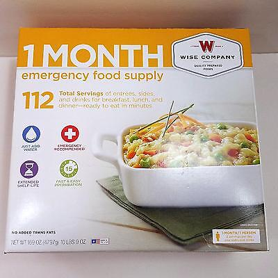 1 Month Emergency Food & Drink Supply Bug Out, Camping, Backpacking 112 Servings