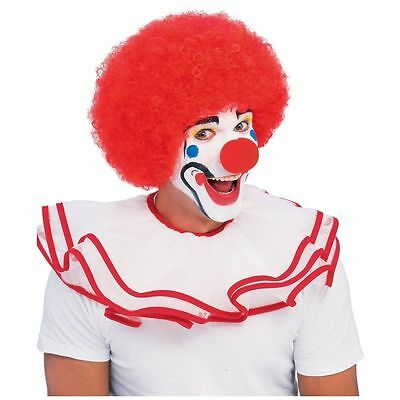 Red Clown Wig Big Afro Circus Costume Accessory Adult Halloween Fancy Dress