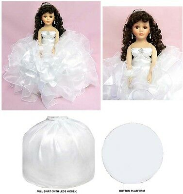"16"" Princess  Quinceanera - Sweet 16  - Porcelain Dolls - White (EQACDoll)"