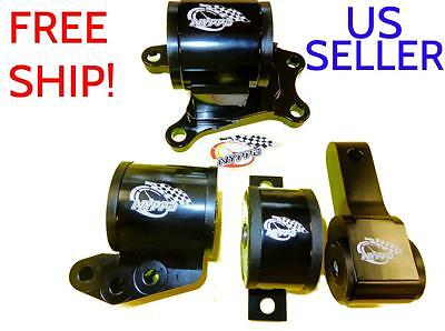 NYPPD Engine Mount kit 4 piece 6 Sp Mitsubishi Evolution 7-9 01 02 03 04 05 06