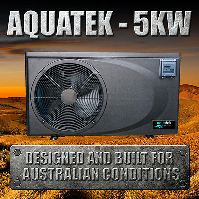 3.7/5KW Swimming Pool/Spa Heat Pump - COP 6 - Plugs Into Standard Power Point!