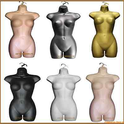 Female Hanging Body Mannequin Form Torso Display Bust Full Quality Top Colours