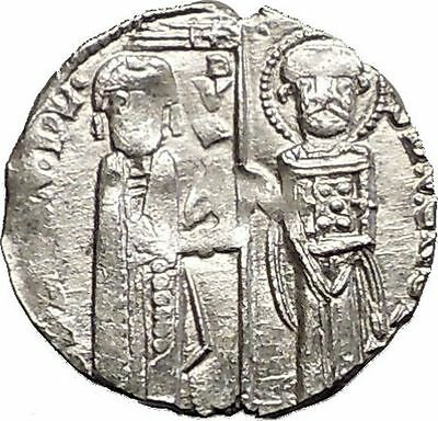 1268AD MEDIEVAL Venice Doge LORENZO TIEPOLO Silver Ancient Coin w CHRIST i57562