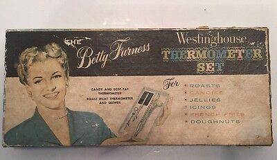 Vtg The Betty Furness Westinghouse Thermometer Set in Original Box