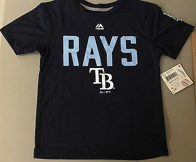 New Tampa Bay Rays MLB Official Baseball Shirt  Unisex size 6x-7 by Majestic