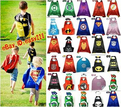 Hot New Superhero Cape (1 cape+1 mask) for kids birthday party favors and ideas*