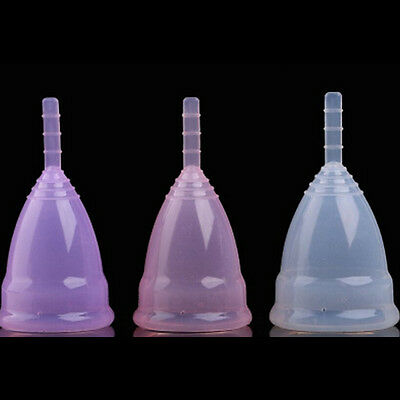 Reusable Silicone Menstrual Cup Period Soft Medical Diva Cups Small Large Size Y