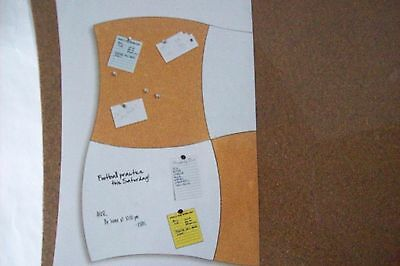 UMBRA Puzzler Magnetic White and Cork Bulletin Board 4 Pieces Complete Set