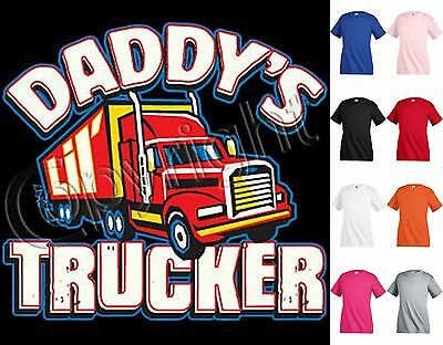 DADDY'S TRUCKER T-shirt Children Kids Unisex Girl Boy Funny KP62
