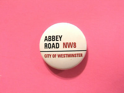 "New Official Beatles Button  Badge Pin Official Uk Made "" Abbey Road"""