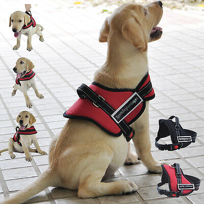 Pet Dog Adjustable Soft Padded Non Pull Dog Harness Vest Chest Walking S M L XL