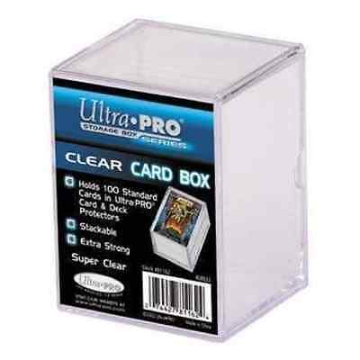 Ultra Pro Sliding Storage Box for up to 100 Cards Clear