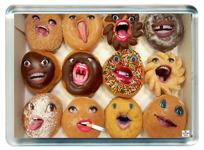 Fridge Magnet Cupcake Donut Biscuit Cream Chocolate Icing Face Saying Gift