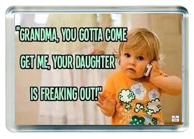 Crazy Mad Daughter Girl Phone Come Get Mom Grandma Quote Saying Gift Present Nov